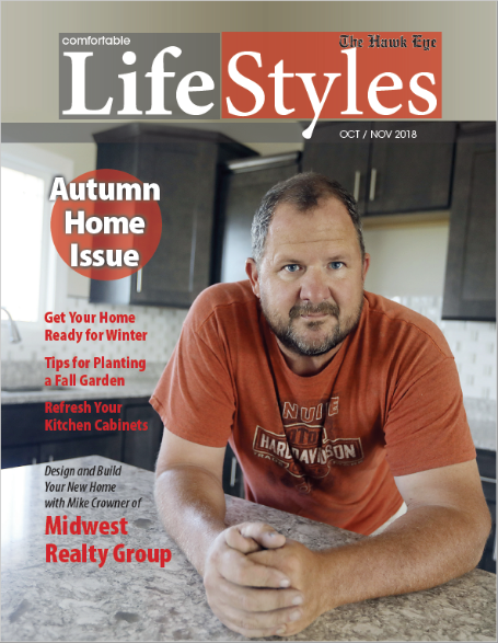 lifestyles magazine cover man in orange shirt Autumn home issue